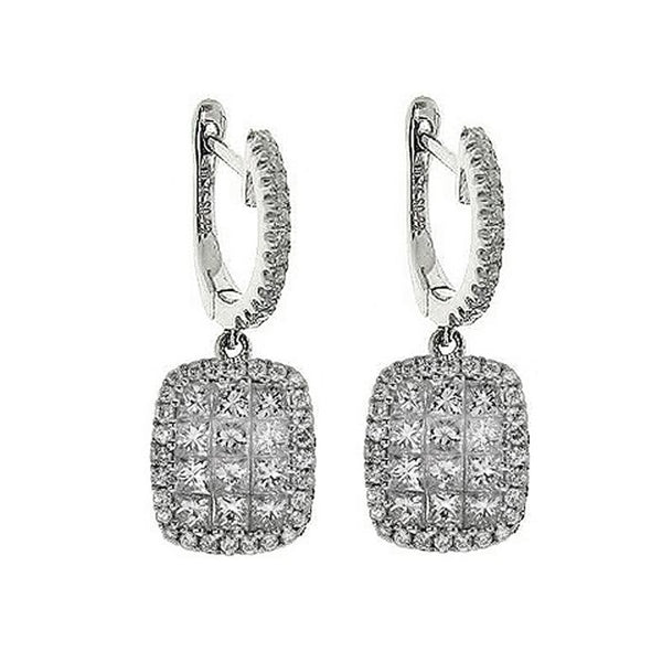 4F0837AWERD0 18KT White Diamond Earring