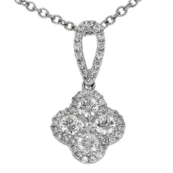 4F08411AWPDD0 18KT White Diamond Pendant