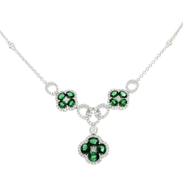 4F08780AWCHDE 18KT Emerald Necklace