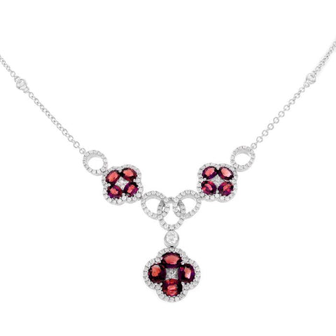 4F08780AWCHDR 18KT Ruby Necklace