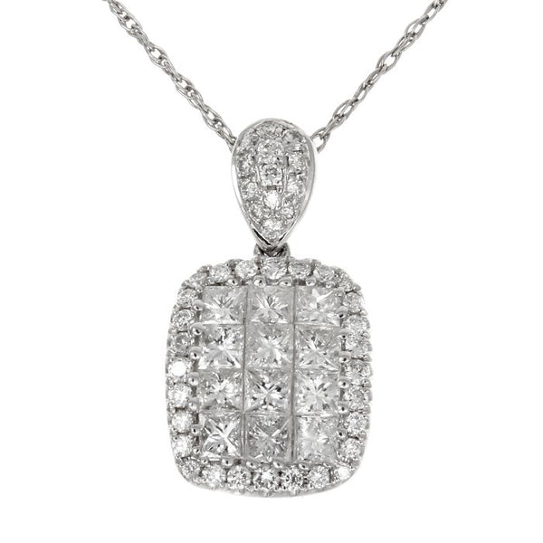 4F0891AWPDD0 18KT White Diamond Pendant