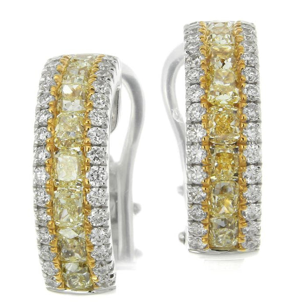 4F09090AWERYD 18KT Yellow Diamond Earring