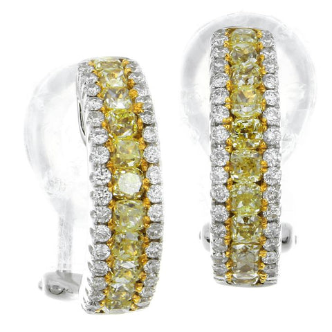 4F0909AWERYD 18KT Yellow Diamond Earring