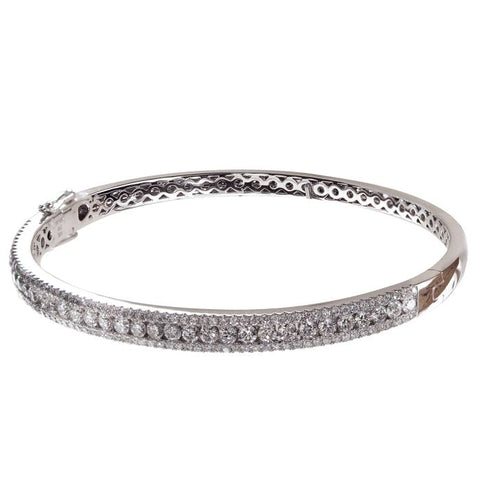 4F0933AWLBD0 18KT White Diamond Bracelet