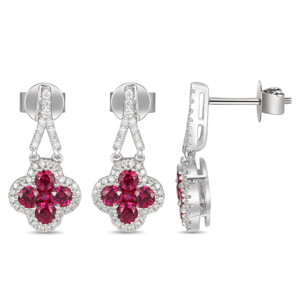 4F0947AWERDR 18KT Ruby Earring
