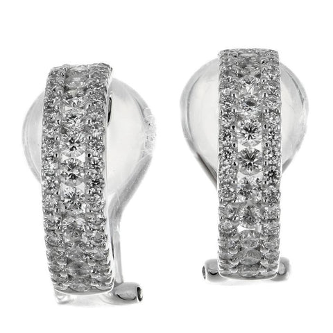 4F0959AWERD0 18KT White Diamond Earring