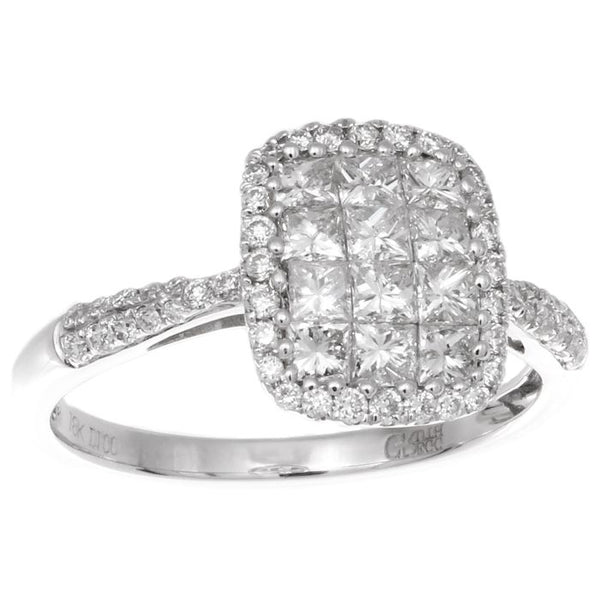 6F033110AWLRD0 18KT White Diamond Ring