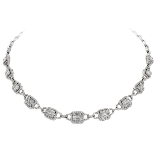 6F034018AWCHD0 18KT White Diamond Necklace