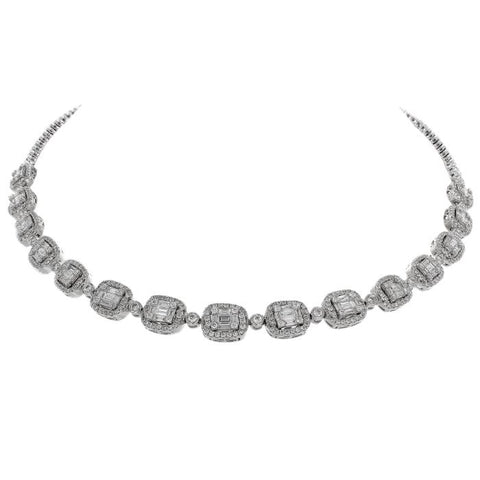 6F034019AWCHD0 18KT White Diamond Necklace