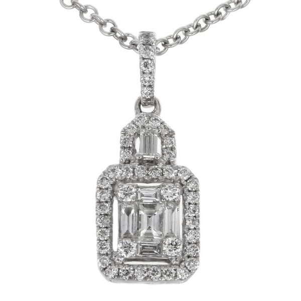 6F034020AWPDD0 18KT White Diamond Pendant