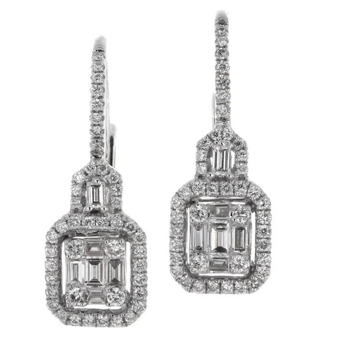 6F034022AWERD0 18KT White Diamond Earring