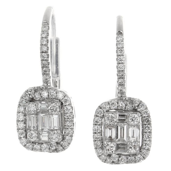 6F034023AWERD0 18KT White Diamond Earring