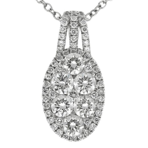 6F034460AWPDD0 18KT White Diamond Pendant