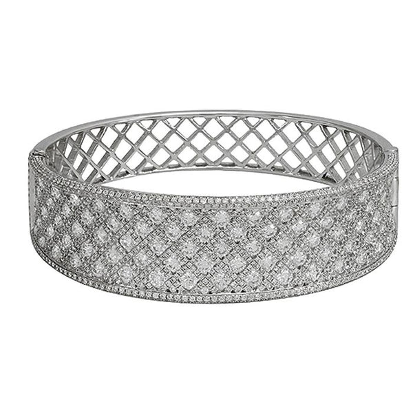 6F034487AWLBD0 18KT White Diamond Bangle