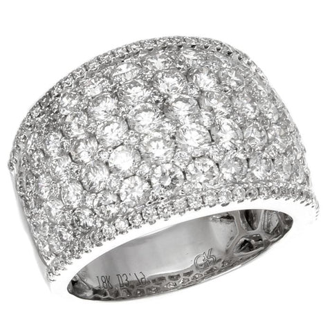 6F034527AWLRD0 18KT White Diamond Ring