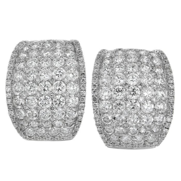 6F034533AWERD0 18KT White Diamond Earring