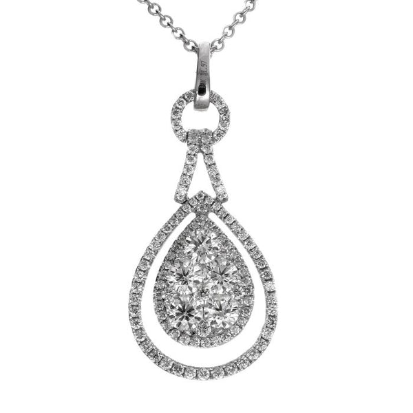 6F034547AWPDD0 18KT White Diamond Pendant