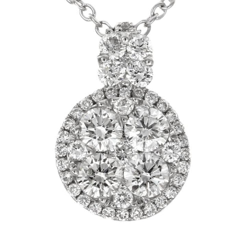 6F034548AWPDD0 18KT White Diamond Pendant