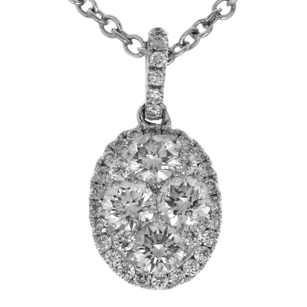 6F034558AWPDD0 18KT White Diamond Pendant