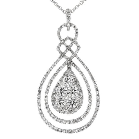 6F034559AWPDD0 18KT White Diamond Pendant