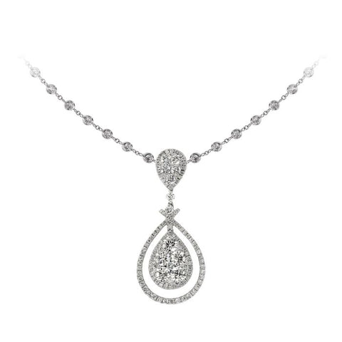 6F034574AWPDD0 18KT White Diamond Pendant