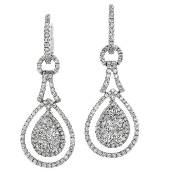 6F034582AWERD0 18KT White Diamond Earring
