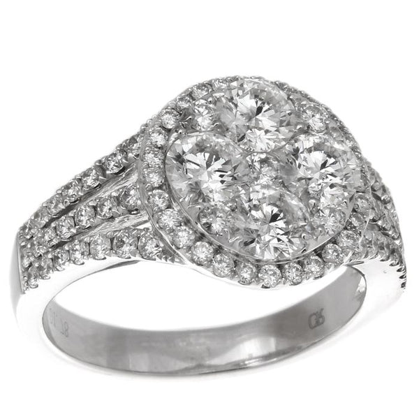 6F034599AWLRD0 18KT White Diamond Ring