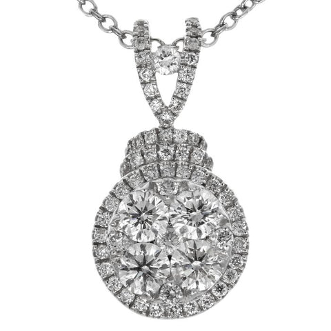 6F034603AWPDD0 18KT White Diamond Pendant