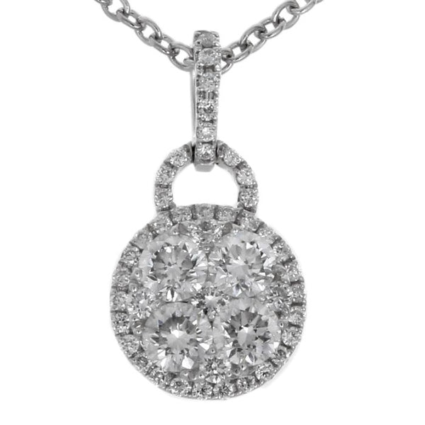 6F034606AWPDD0 18KT White Diamond Pendant