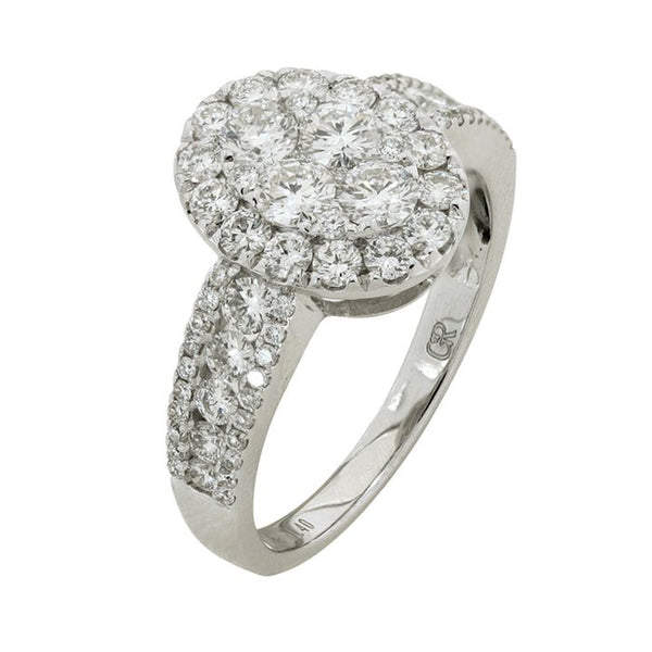 6F034611AWLRD0 18KT White Diamond Ring