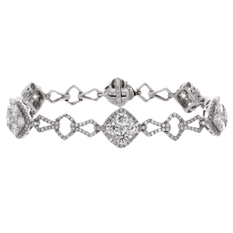 6F034620AWLBD0 18KT White Diamond Bracelet
