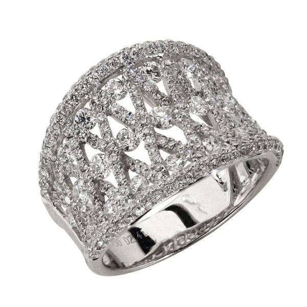 6F034890AWLRD0 18KT White Diamond Ring