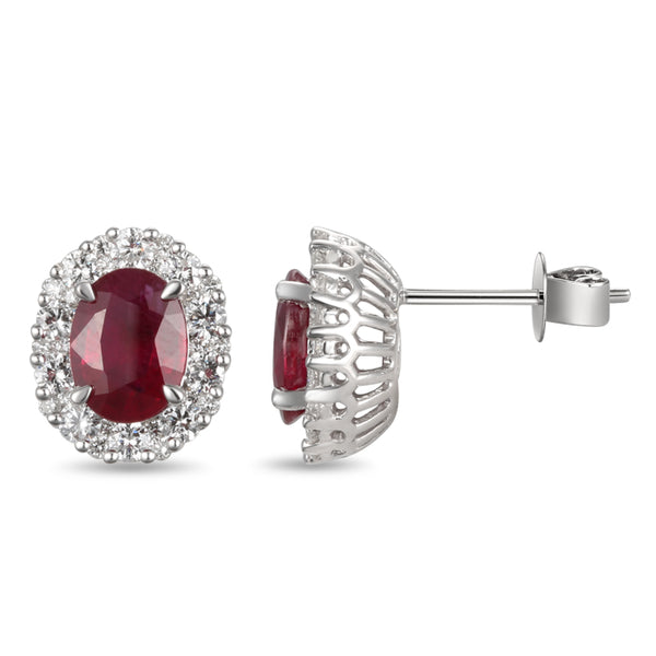 6F035701AWERDR 18KT Ruby Earring