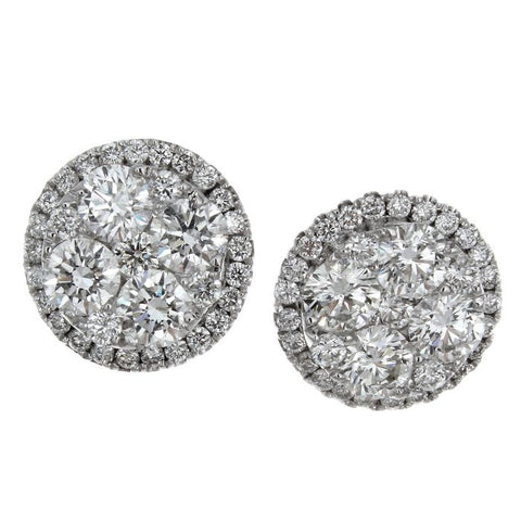 6F036244AWERD0 18KT White Diamond Earring