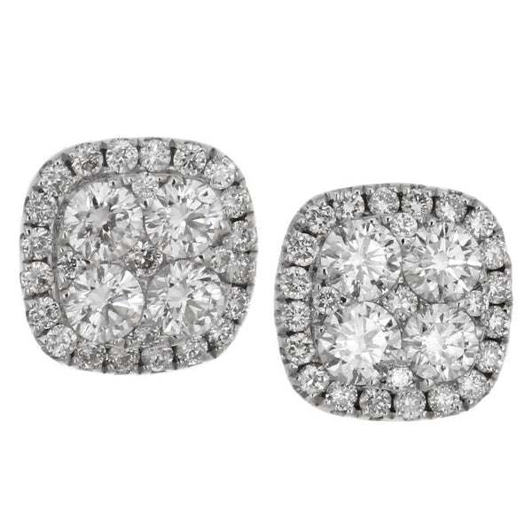 6F036715AWERD0 18KT White Diamond Earring