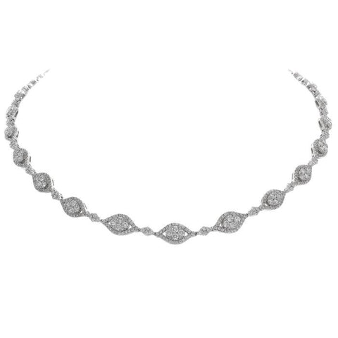 6F037567AWCHD0 18KT White Diamond Necklace