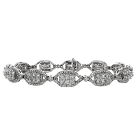 6F038237AWLBD0 18KT White Diamond Bracelet