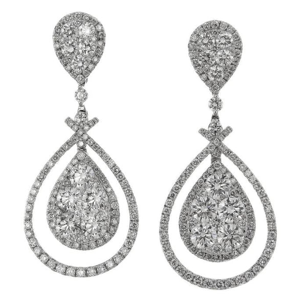 6F038256AWERD0 18KT White Diamond Earring