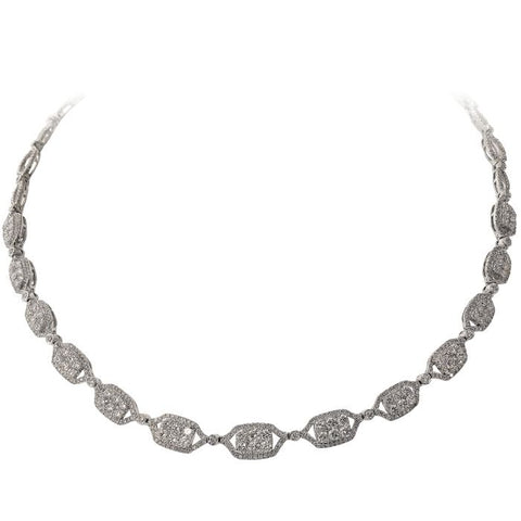 6F038258AWCHD0 18KT White Diamond Necklace
