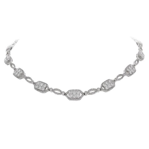 6F038259AWCHD0 18KT White Diamond Necklace