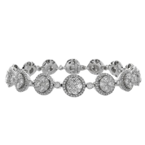 6F039577AWLBD0 18KT White Diamond Bracelet