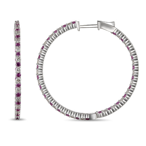 6F039767AWERDPS 18KT Pink Sapphire   Earring