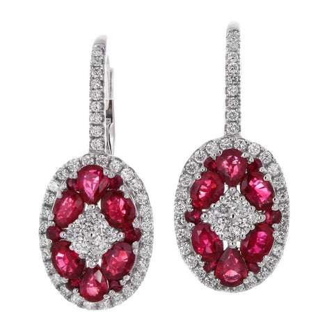 6F040593AWERDR 18KT Ruby Earring