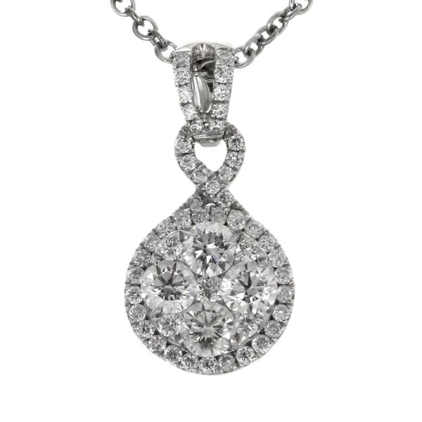 6F040900AWPDD0 18KT White Diamond Pendant