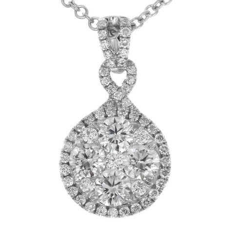 6F040902AWPDD0 18KT White Diamond Pendant