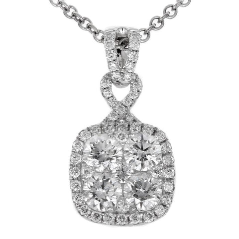6F040904AWPDD0 18KT White Diamond Pendant