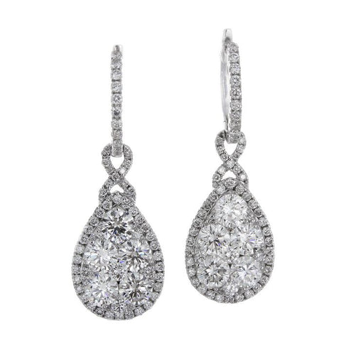 6F040905AWERD0 18KT White Diamond Earring