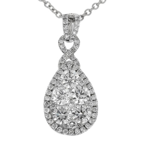 6F040906AWPDD0 18KT White Diamond Pendant