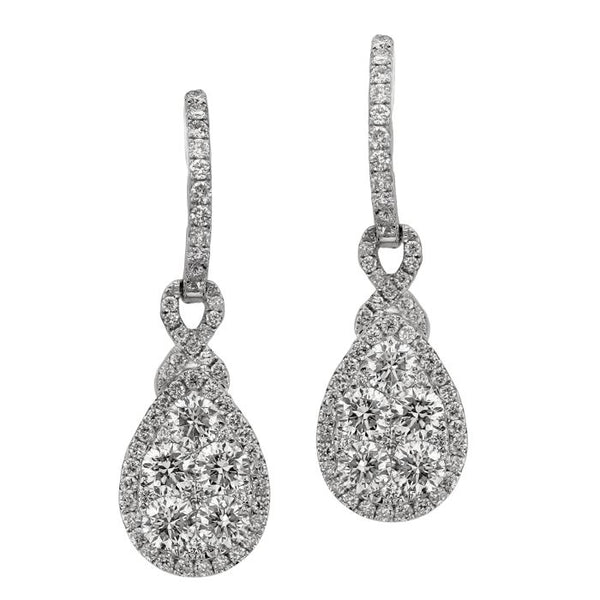 6F040907AWERD0 18KT White Diamond Earring
