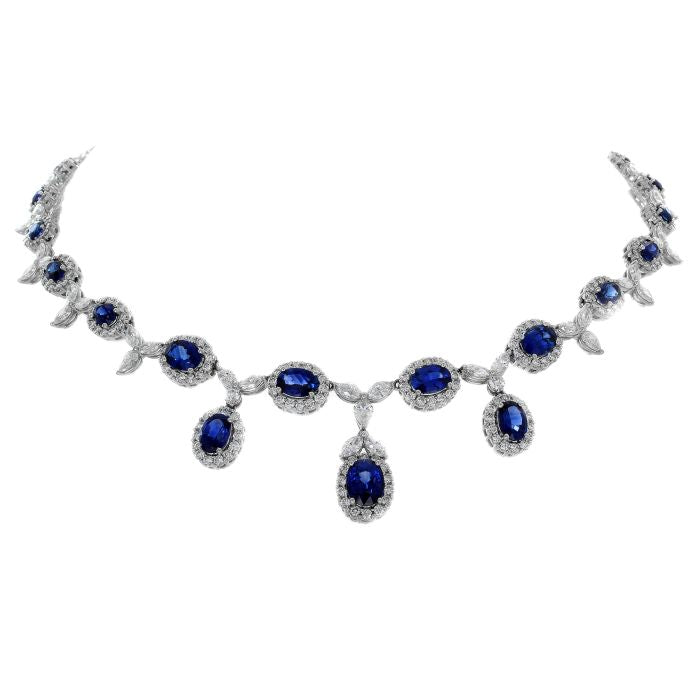 blue overstock orders necklace free product lab in shipping created sapphire on watches jewelry over silver sterling